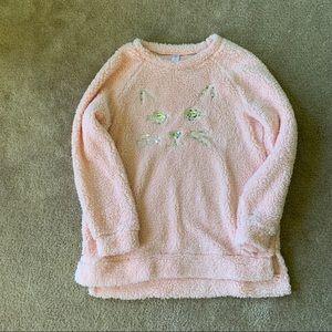 Plush cat sweater NWOT
